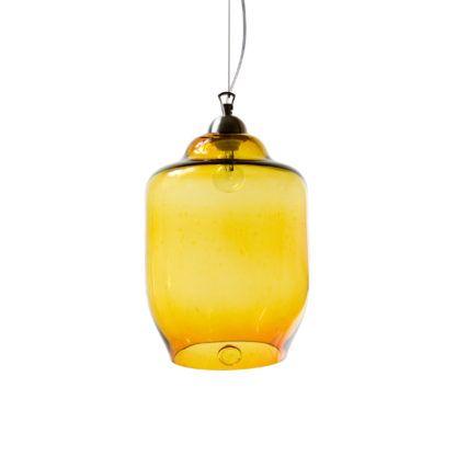 Lampa wisząca szklana duża - Gie El Home - miodowa