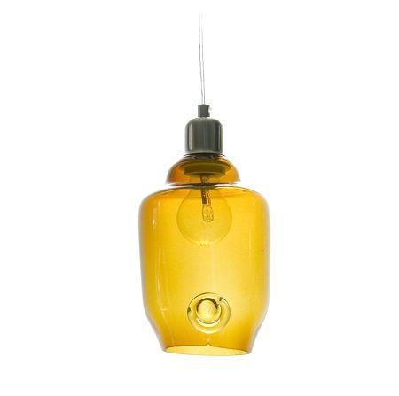 lampa wisząca z żółtego szkła w stylu nowoczesnym