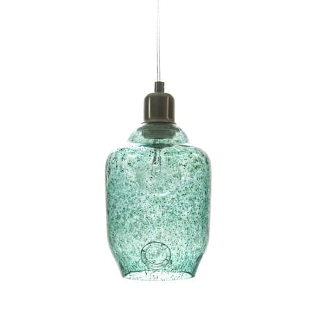 Lampa wisząca szklana mała - Gie El Home - turkusowa
