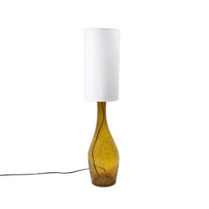 Lampa stołowa szklana podłużna - Gie El Home - miodowa