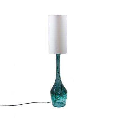 Lampa stołowa szklana podłużna-  Gie El Home - turkusowa