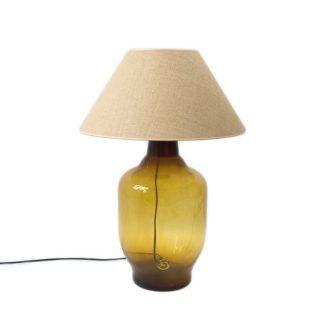 Lampa stołowa Bee - szklana duża - Gie El Home - miodowa