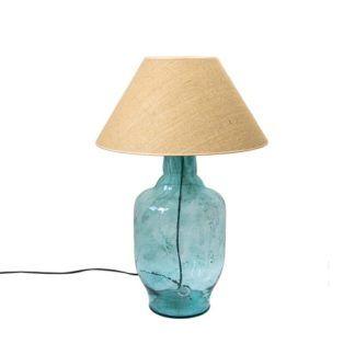 Lampa stołowa Bee - szklana duża Gie El Home - turkusowa