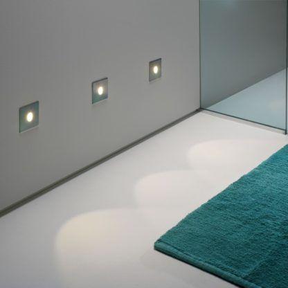 oczko do zabudowy w ścianie, nowoczesne oświetlenie