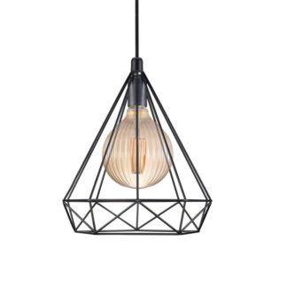 Lampa wisząca Aire - Nordlux - czarna, industrial