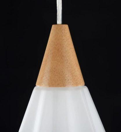 Lampa wisząca Alba - Maytoni - matowe szkło, drewno