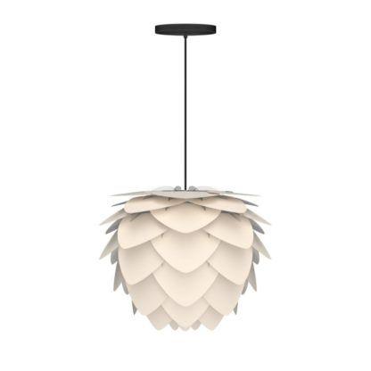 lampa wisząca z białym kloszem w stylu nowoczesnym
