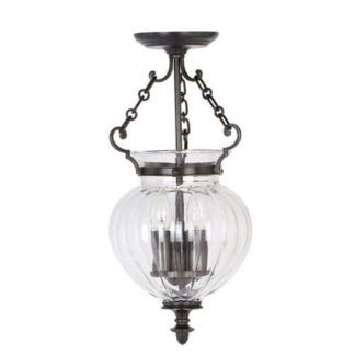 Lampa wisząca - Amfora - stary brąz