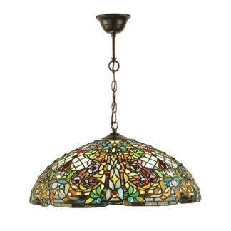 Lampa wisząca Anderson - Interiors - witrażowy klosz