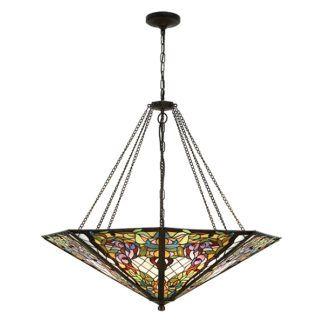 Lampa wisząca Anderson - Interiors - duży, witrażowy klosz