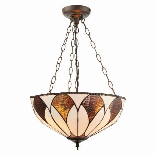 Lampa wisząca Aragon - Interiors - 3 żarówki - szkło