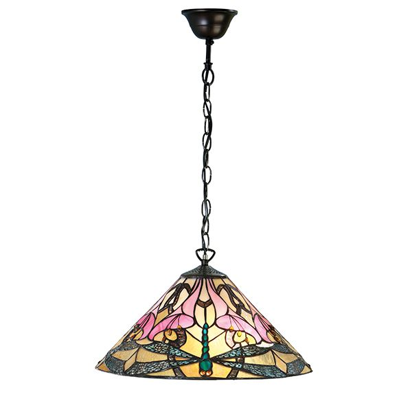 średnia lampa wisząca wykonana ze szkła mozaikowego