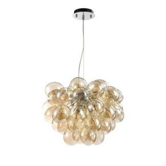 Lampa wisząca Balbo - Maytoni - szklana, beżowa