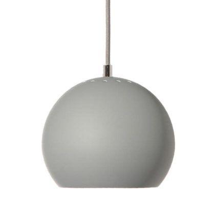 Lampa wisząca Ball - Frandsen Lighting - jasnoszara - matowa