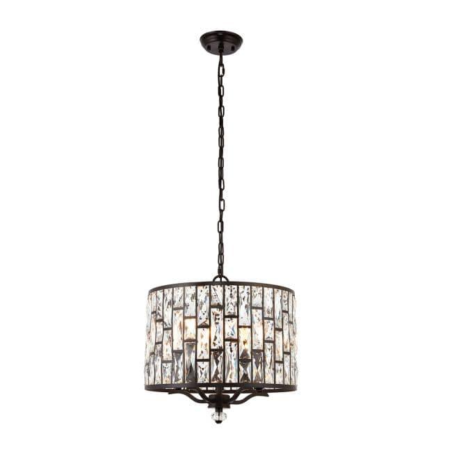 Lampa wisząca Belle - Endon Lighting - brązowa, szklana