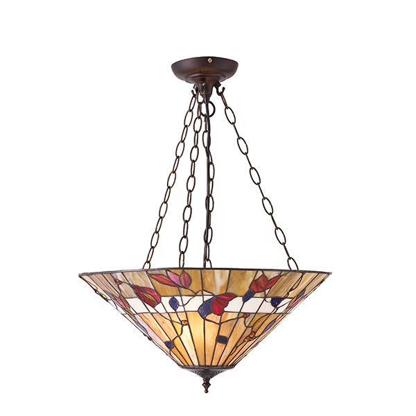 Lampa wisząca Bernwood - Interiors - kwiaty - szklana