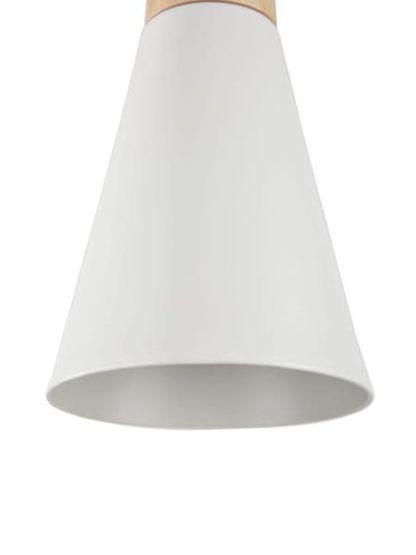 lampa wiszaca drewniano biała