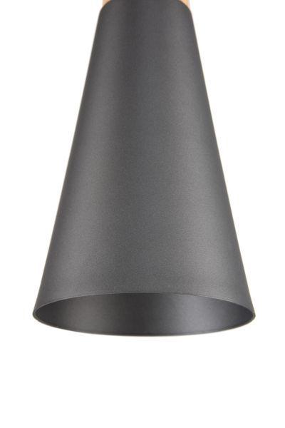 lampa wiszaca czarna - stożek