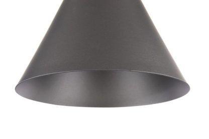 czarna lampa wisząca od środka