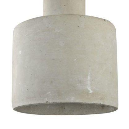 betonowa lampa szara wisząca
