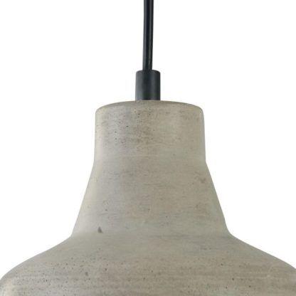 stożkowa lampa betonowa szeroka - wisząca