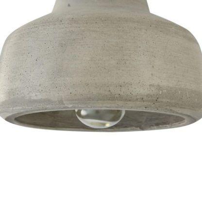 betonowa lampa wisząca o różnych średnicach