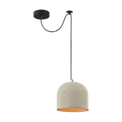 lampa wisząca betonowa półokrągła