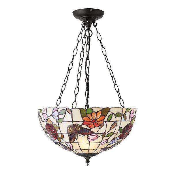 duża lampa wisząca ze szkła mozaikowego