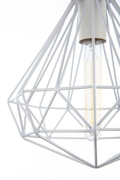 druciana lampa biała - wiszaca