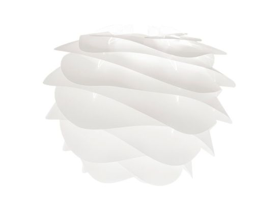 biała lampa wisząca z falującym kloszem, styl nowoczesny