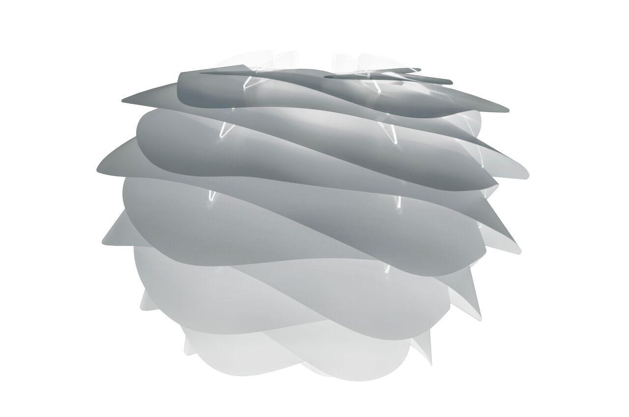 delikatna, szara lampa wisząca w stylu skandynawskim, białe zawieszenie