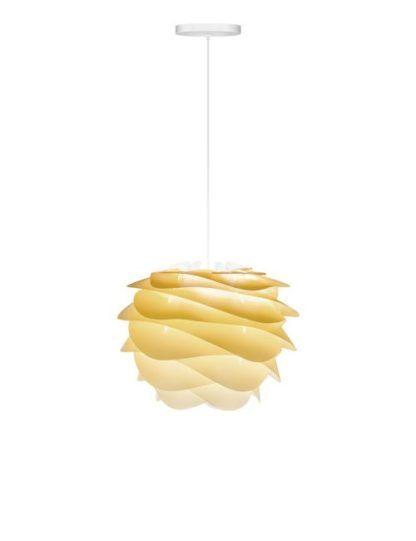 nowoczesna lampa wisząca z żółtym kloszem