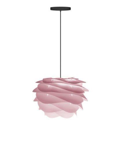 nowoczesna lampa wisząca w odcieniach pudrowego różu
