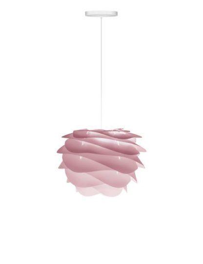 pastelowa lampa wisząca z falującego tworzywa, pudrowy róż
