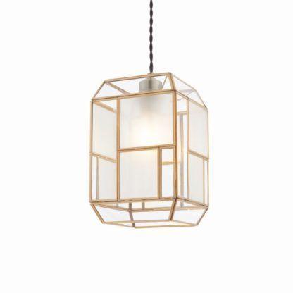 Lampa wisząca Chatsworth - Endon Lighting - mosiądz, szkło