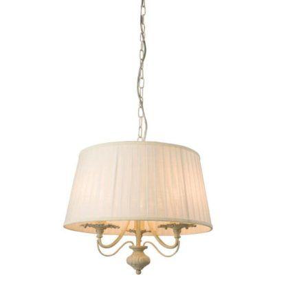 Lampa wisząca Chester - Endon Lighting - 3 żarówki - kremowa