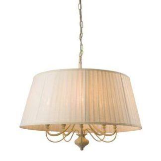 Lampa wisząca Chester - Endon Lighting - 5 żarówek - kremowa