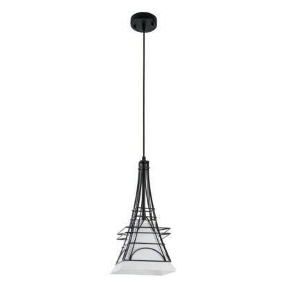 Lampa wisząca City - Maytoni - Paryż - druciana, czarna