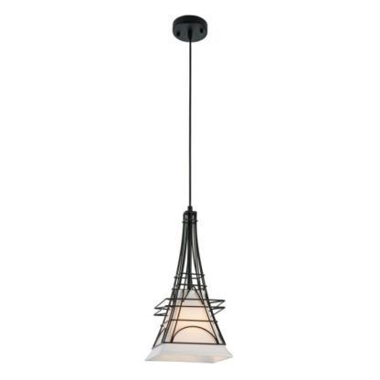 wisząca lampa obudowana drutami