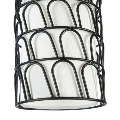 lampa z drutu ze zdobieniami - wisząca