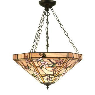 Lampa wisząca Clematis - Interiors - 3 żarówki - szkło