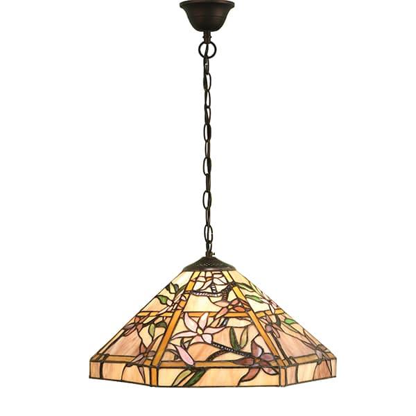 Lampa wisząca Clematis - Interiors - witrażowy klosz
