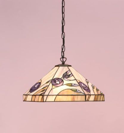 Lampa wisząca Damselfly - Interiors - beżowa, szklana