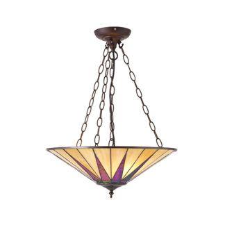 Lampa wisząca Dark Star - Interiors - metal, szkło