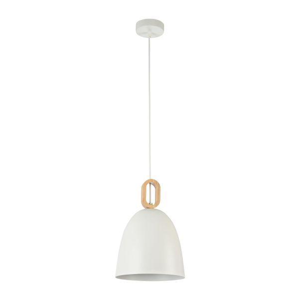 Lampa wisząca Dayton 22 - Maytoni - biała, drewniana