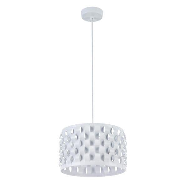 lampa wisząca okrągła biała z falami