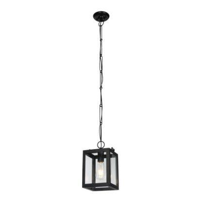 lampa w kształcie sześcianu szklana czarna