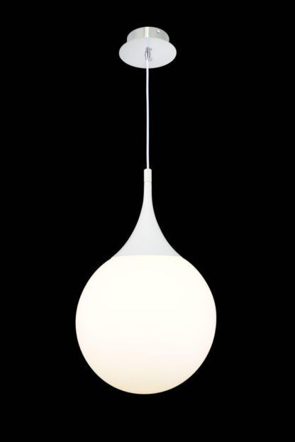 Lampa wisząca Dewdrop 30 - Maytoni - biała, szklana