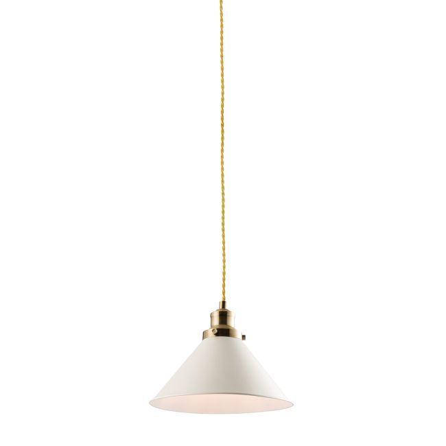 Lampa wisząca Downton - Endon Lighting - biała, mat