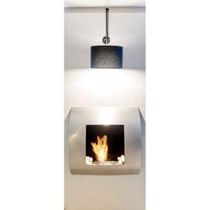 aranżacja - czarna lampa wisząca w klasycznym stylu
